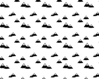 Mountain Changing Pad Cover / Black and White Changing Pad Cover / Monochrome Changing Mat Cover / Minky Changing Pad Cover