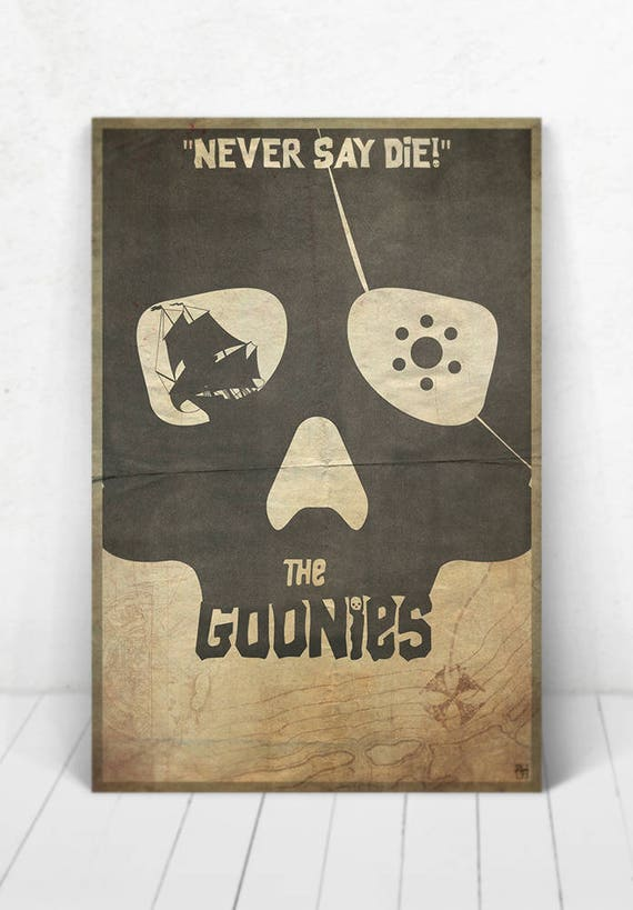 The Goonies Movie Poster Illustration / The Goonies Movie Poster / The Goonies / Movie Poster