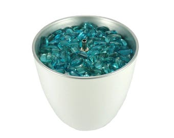 Water Feature Indoor Tabletop C white blue