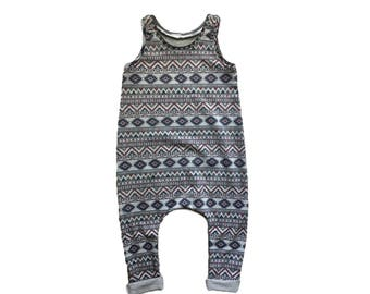 Aztec baby romper - Baby boy romper - Toddler boy romper - Hipster baby clothes - Baby boy clothes - Toddler boy clothes - Boy outfit