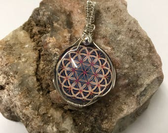 Flower of Life Sterling Silver Pendant