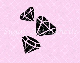 Diamonds crystals Stencil Nb1643