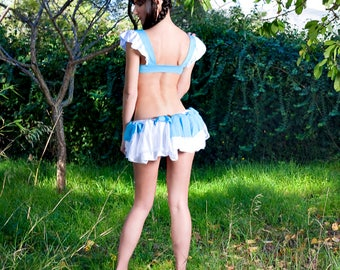 Cute Ice Princess Fairy Tales Lingerie Costume