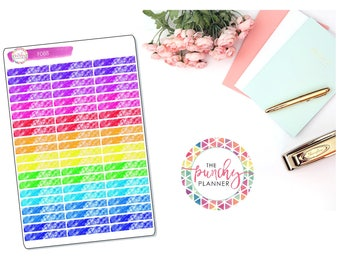 Crayon Scribbles Functional Header Stickers // Back To School Planner Stickers for use with ERIN CONDREN LIFEPLANNERTM