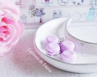 4 markers-knitting badge / violet / Lavender / lilac