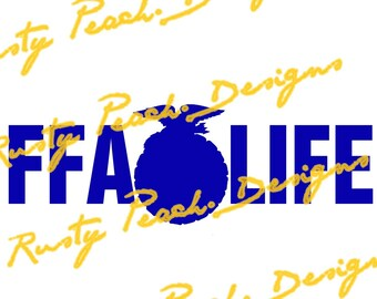 FFA Life, ffa Emblem Cutting File, Download, SVG, PNG, Studio, Studio3, Silhouette Cameo, Cricut, Instant Download.