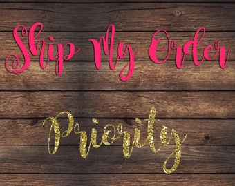 Ship My Order Priority | Please Read Entire Listing