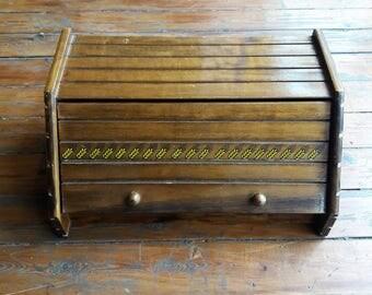 Vintage Wooden Bread Bin/Box