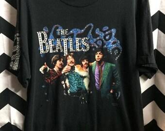 Vintage Beatles T-shirt W/rhinestones