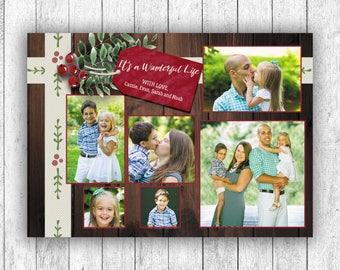 Photo Christmas Cards, Printed Christmas Cards, Multiple Photo Card, It's A Wonderful Life, Picture Christmas Cards, Holly Christmas Cards
