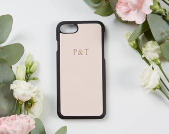 Saffiano Leather iPhone 7 Cover Blush Pink