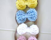 Crochet Hair Bow (Small Size) - 35 colors to choose from