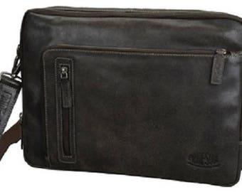 Shoulder bag , leather, brown