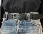 Ceinture noire ; ceinture cuir ; ceinture homme ; ceinture cuir de qualité ; ceinture cuir noir /ET3/