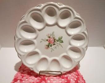 Vintage Royal Wilton Rose China Deviled Egg Platter