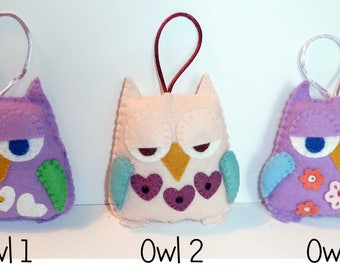 Quirky Owl Lavender Bag