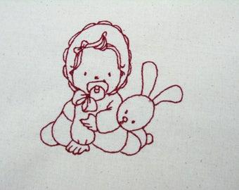 Baby Sunbonnet 009 4x4