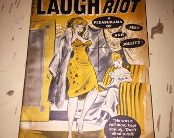 Vintage Laugh Riot Magazine 1964 Adult Humor Mens Novelty Pin Up Nude Naughty Humor