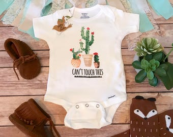 Cactus Onesie®, Funny Onesies, Funny Baby Onesies, Baby Shower Gift, Hipster Baby Clothes, Funny Baby Clothes, Cute Baby, Can't Touch This