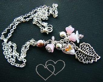 Flower and leaf pendant