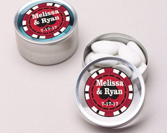 12pcs Poker Chips Personalized Mini Clear Top Tins  - JM6434987-FC4672