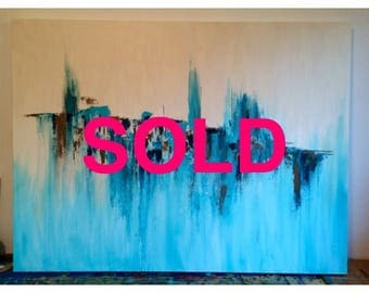Elements - abstract painting, abstract art , wall art, wall decor, fine art, modern art
