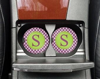 Personalized Car Coaster | Monogram Car Coasters | Cup Holder Coaster | Car Accessory | Car Decor | Monogram Car Decor | Stone Coasters