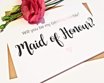 Will You Be My Maid of Honour Card, Funny Maid of honour Proposal, Maid of Honour Card, Wedding Party Cards