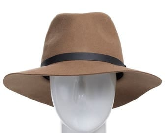 Aster Wool Felt Floppy Brim Fedora Hat for Fall and Winter
