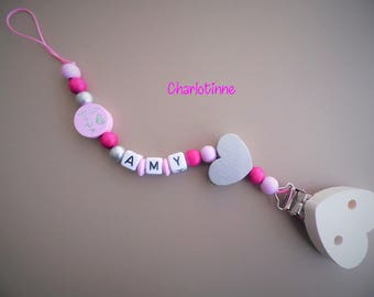 Pacifier clip personalized with name