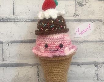 Cute crochet ice cream