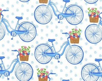 Sunday Morning Bicycle Cotton Fabric