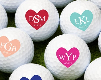 Heart Initials  Personalized Golf Balls - Bulk Price Available  (MIC-JM3863016)