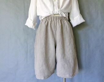 Vintage FLAX 100% linen shorts women's size S/M/L