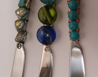 Bead & Wire wrapped Spreaders for tips, butter etc....