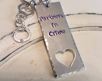 Best Friends Keychain/ Partners in Crime (set of 2)