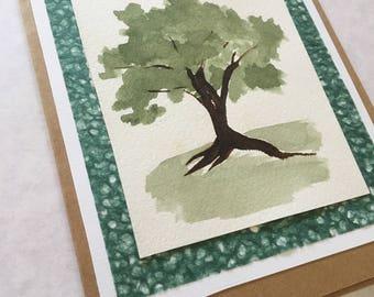 Handmade Greeting Card- Summer Tree
