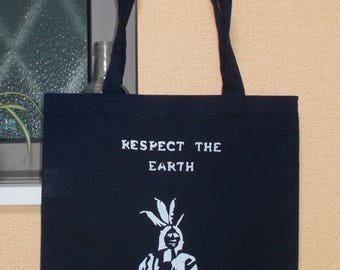Tote bag Respect the earth