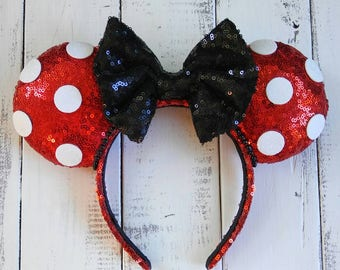 Minnie Mouse Inspired Polka Dot Ears