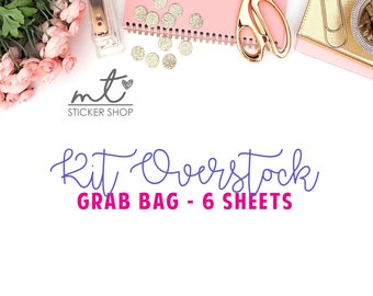 Kit Overstock Grab Bag || 6 Sheets of Stickers || NO COUPON CODES