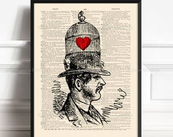 Love Prisoner, Printed Mens Gift, Wife Gift, Gay Couples, 4th Year Anniversary, Gift for Her 18th, Love Her Gift, Cool Dictionary Art 387