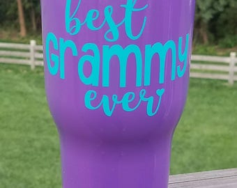 Best Grammy Ever tumbler / Grammy gift / Grandmother gift / RTIC Tumbler 20 oz, 30 oz