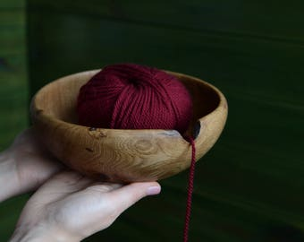 Wooden yarn bowl, crochet accessories, yarn holder, wood yarn organizer, gift for crocheters, knitting accessories, gift for knitters,