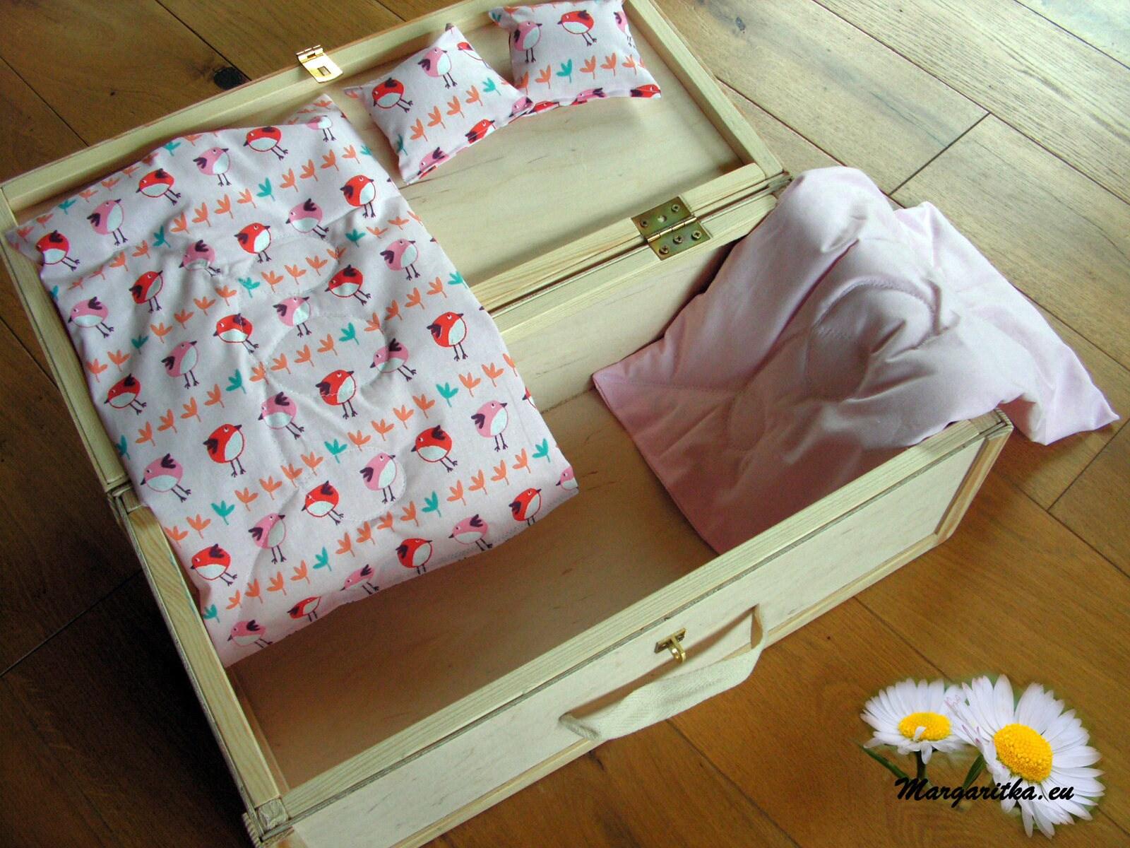 Large Doll Case, 18 Inch Doll Trunk, Wood, American Doll Trunk, Waldorf