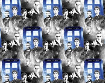 BBC Doctor Who Police Public Call Cotton Fabric from Springs Creative licensed fabric by the yard or metre 59343A620715