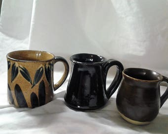 Choice of Pottery Mugs - Vintage