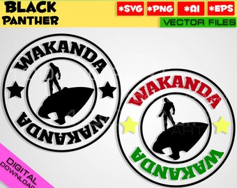 Black Panther SVG PNG EPS 2 files Marvel Black Panther Wakanda Helmet Mask clipart silhouette stencil file cricut vector cut file Panther