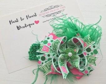 St. Patrick's Day Bow, St. Patrick's Day Headband, St. Patrick's Day Baby Headband, St. Patrick's Day Boutique Bows
