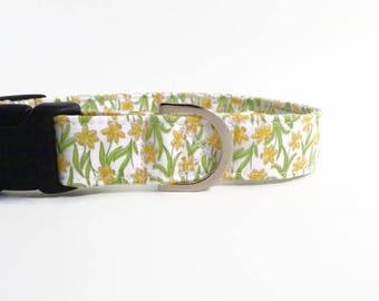 Daffodil Dog Collar   Dog Collar   Floral Dog Collar   Girl Dog Collar    Small Dog Collar   Large Dog Collar   Puppy Collar