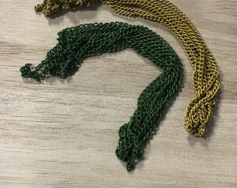 Dijon Yellow and Pine Green Chains [9in long]
